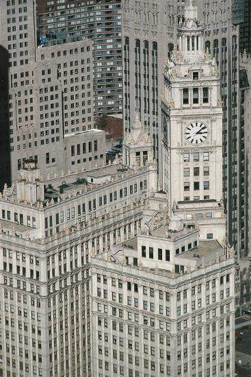 Downtown as Seen from Leo Burnett Building, Chicago, Illinois, USA--Giclee Print