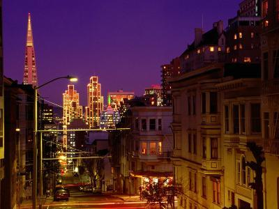 Downtown at Dusk, San Francisco, U.S.A.-Thomas Winz-Photographic Print