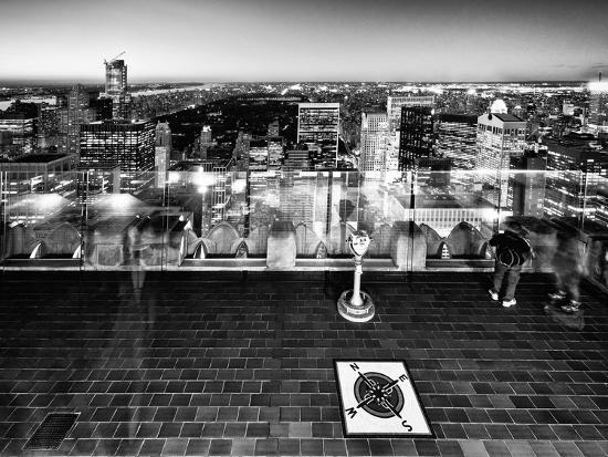 Downtown at Night, Top of the Rock Oberservation Deck, Rockefeller Center, New York City-Philippe Hugonnard-Photographic Print