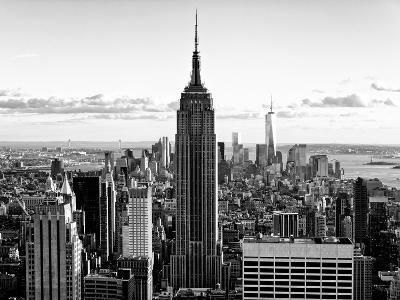 Downtown at Sunset, Empire State Building and One World Trade Center (1WTC), Manhattan, New York-Philippe Hugonnard-Premium Photographic Print