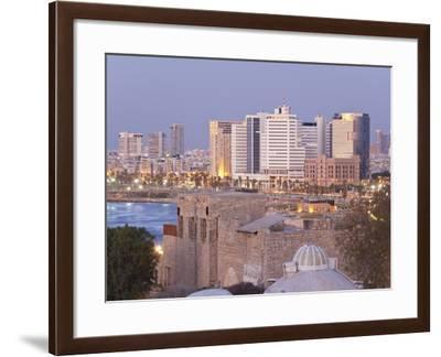 Downtown Buildings Viewed from Hapisgah Gardens Park, Tel Aviv, Israel, Middle East-Gavin Hellier-Framed Photographic Print