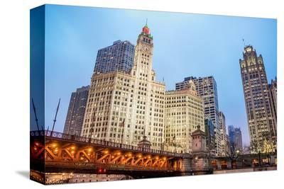 Downtown Chicago Michigan Ave.--Stretched Canvas Print