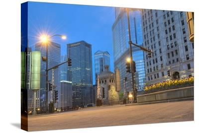 Downtown Chicago Morning Hours--Stretched Canvas Print