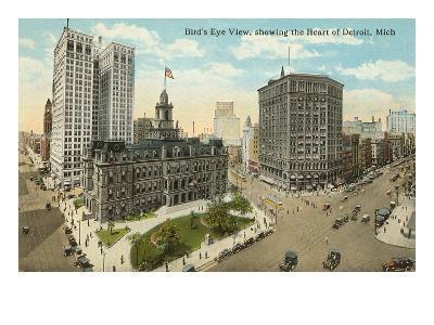 Downtown Detroit, Michigan--Art Print