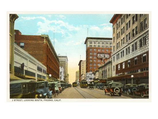 Downtown Fresno, California--Art Print