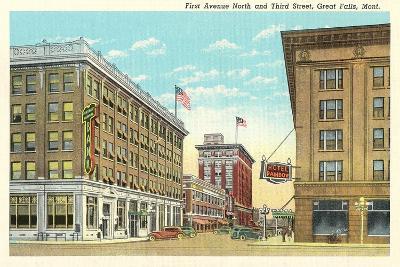 Downtown Great Falls--Art Print