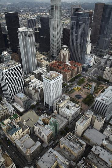 Downtown Los Angeles, Including Us Bank Tower 73 Floors, Aerial-David Wall-Photographic Print