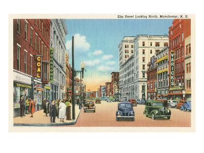 Downtown Manchester, New Hampshire--Art Print
