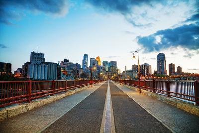 Downtown Minneapolis, Minnesota at Night Time-photo.ua-Photographic Print