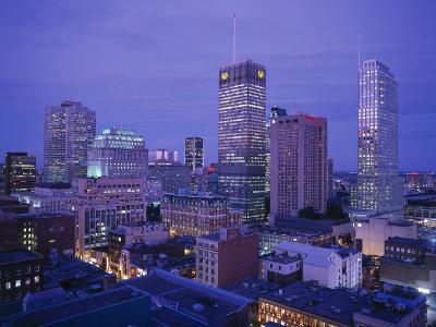 Downtown, Montreal, Quebec, Canada-Walter Bibikow-Photographic Print