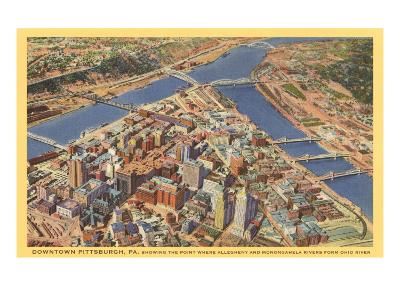 Downtown Pittsburgh, Pennsylvania--Art Print