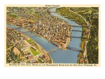 Downtown Pittsburgh, Pennsylvania--Art Print
