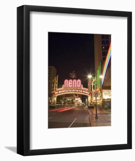 Downtown, Reno, Nevada-Chuck Haney-Framed Photographic Print