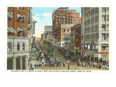 Downtown, Seattle, Washington--Art Print