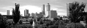 Downtown Skyline from Centennial Park, Tulsa, Oklahoma, USA
