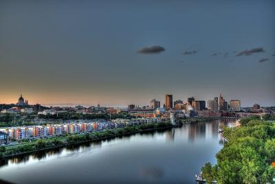 Downtown St. Paul, MN Skyline and Reflection-Klement Gallery-Photographic Print