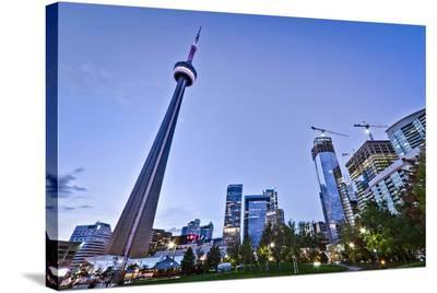 Downtown Toronto Park CN Tower--Stretched Canvas Print