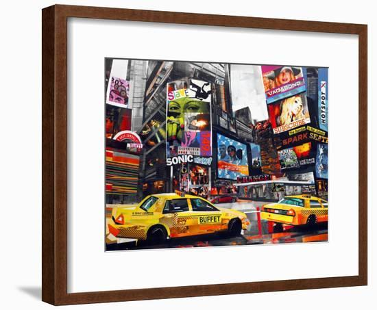 Downtown-James Grey-Framed Art Print