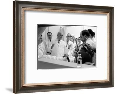 Dr. Adrian Kantrowitz with Colleagues at the Bedside of Case L1. Brooklyn, NY June 1966-Ralph Morse-Framed Photographic Print