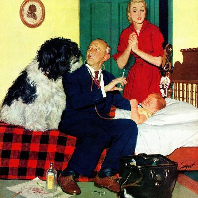 """Dr. and the Dog"", November 21, 1953-Richard Sargent-Giclee Print"
