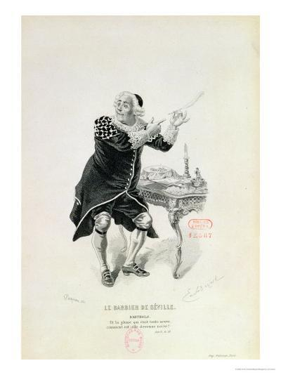 """Dr Bartolo, from the Opera """"The Barber of Seville"""" by Rossini-Emile Antoine Bayard-Giclee Print"""
