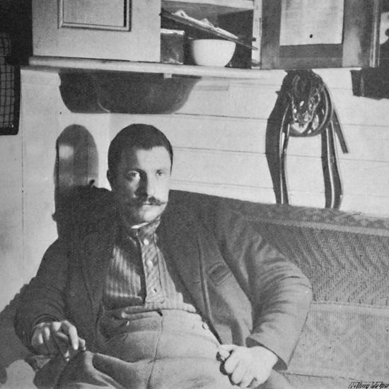 'Dr. Blessing in his Cabin', 1893-1896, (1897)-Unknown-Photographic Print