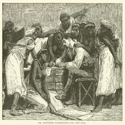 Dr Davidson Prescribing for the Sick--Giclee Print
