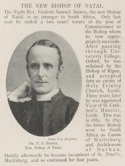 Dr F S Baines, New Bishop of Natal--Giclee Print
