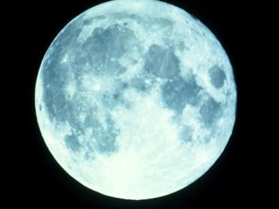 Telescope Photo of Full Moon From Earth