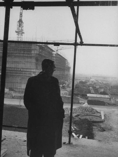 Dr. Frits Philips Looking over the Construction of a New Laboratory--Photographic Print