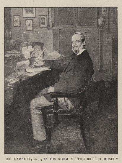 Dr Garnett, Cb, in His Room at the British Museum--Giclee Print