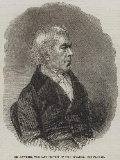 Dr Hawtrey, the Late Provost of Eton College--Giclee Print