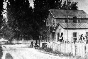 Street Scene with Houses, Lodge Landing, Virginia by Dr. J. Motley Booker