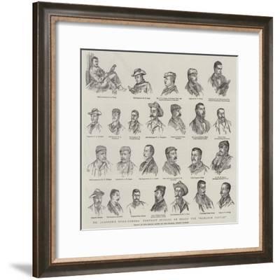 Dr Jameson's Home-Coming, Portrait Studies on Board the Harlech Castle--Framed Giclee Print