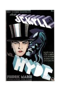 Dr. Jekyll and Mr. Hyde, Fredric March on Swedish Poster Art, 1931