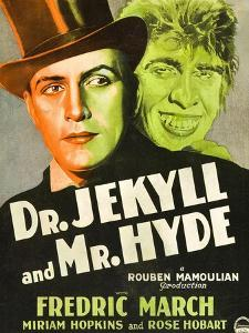 Dr. Jekyll and Mr. Hyde, Poster Art featuring Fredric March, 1931