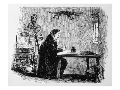 Dr John Dee and His Assistant Edward Kelley (With--Giclee Print