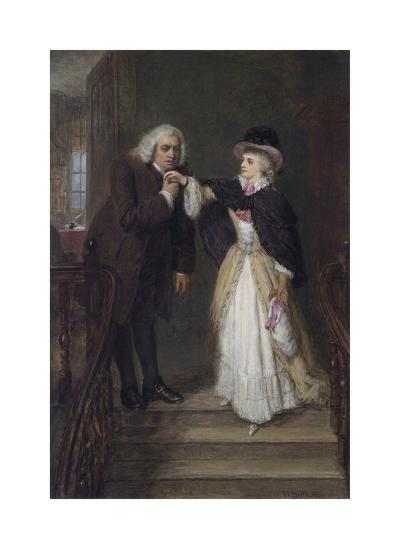 Dr. Johnson and Mrs Siddons in Bolt Court-William Powell Frith-Premium Giclee Print