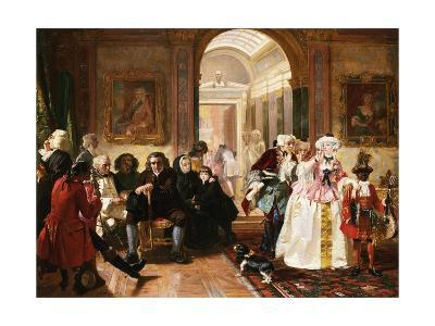 Dr. Johnson in the Ante-Room of the Lord Chesterfield Waiting for an Audience, 1748-Edward Matthew Ward-Giclee Print