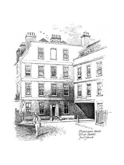 Dr Johnson's House, 17 Gough Square, London, 1912-Frederick Adcock-Giclee Print
