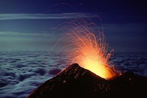 Mount Etna Volcano Erupting by Dr. Juerg Alean