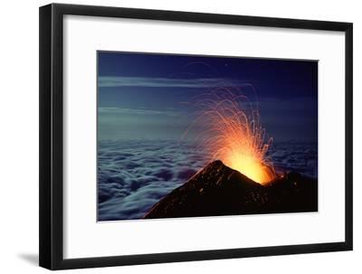 Mount Etna Volcano Erupting