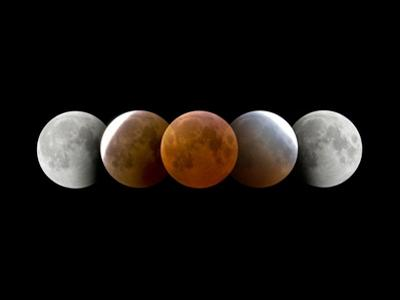 Total Lunar Eclipse, Montage Image by Dr. Juerg Alean
