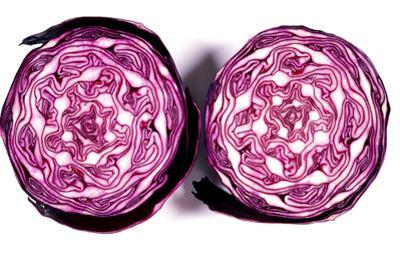 Halved Red Cabbage by Dr. Keith Wheeler