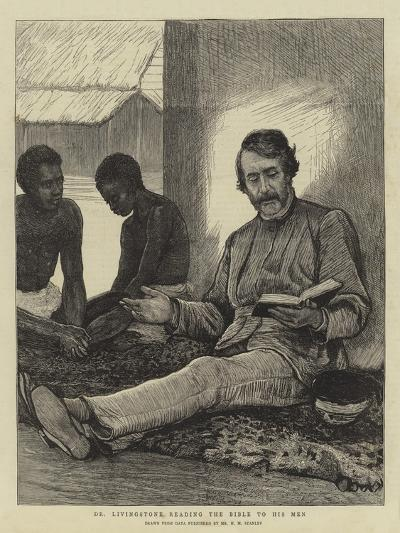 Dr Livingstone Reading the Bible to His Men--Giclee Print