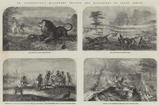 Dr Livingstone's Missionary Travels and Researches in South Africa--Giclee Print