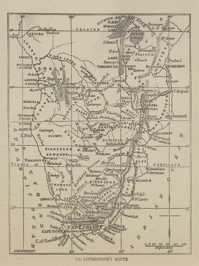 Dr Livingstone's Route--Giclee Print