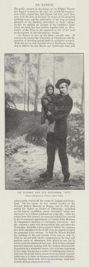 Dr Nansen and His Daughter, Liv--Giclee Print