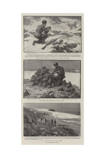Dr Nansen and Mr Jackson in the White North-Charles Joseph Staniland-Giclee Print