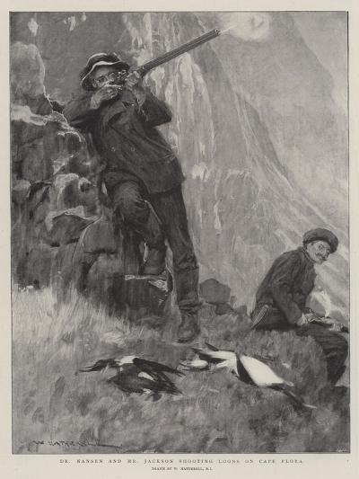 Dr Nansen and Mr Jackson Shooting Loons on Cape Flora-William Hatherell-Giclee Print